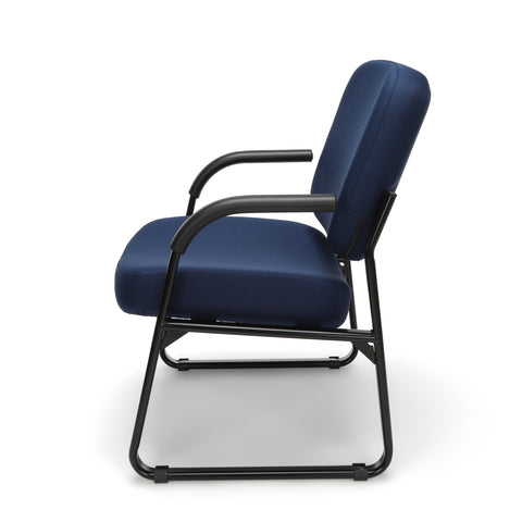OFM Model 407 Fabric Big and Tall Guest and Reception Chair with Arms, Navy ; UPC: 845123028575 ; Image 5