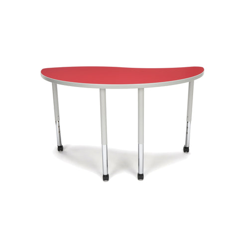OFM Adapt Series Ying Standard Table - 25-33? Height Adjustable Desk with Casters, Red (YING-LLC) ; UPC: 845123096482 ; Image 2