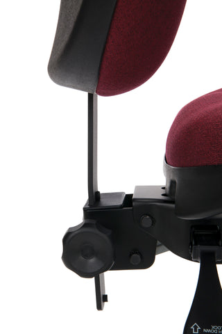 OFM 24 Hour Big and Tall Ergonomic Task Chair - Computer Desk Swivel Chair with Arms, Burgundy (247) ; UPC: 811588010288 ; Image 9