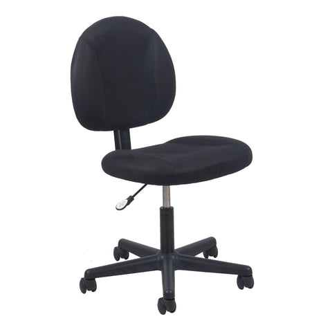 Essentials by OFM ESS-3060 Upholstered Armless Swivel Task Chair, Black ; UPC: 089191013198 ; Image 1