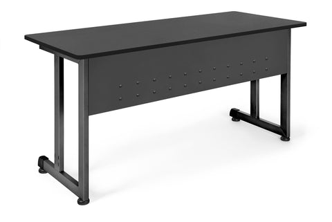 "OFM Model 55142 24"" x 55"" Modular Utility and Training Table, Graphite with Black Frame ; UPC: 811588017041 ; Image 1"