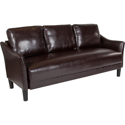 Flash Furniture Asti Upholstered Sofa in Brown Leather SLSF9153BRNGG ; Image 1 ; UPC 889142500247