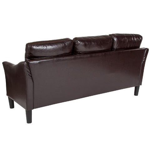 Flash Furniture Asti Upholstered Sofa in Brown Leather SLSF9153BRNGG ; Image 3 ; UPC 889142500247