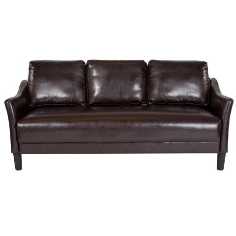 Flash Furniture Asti Upholstered Sofa in Brown Leather SLSF9153BRNGG ; Image 4 ; UPC 889142500247