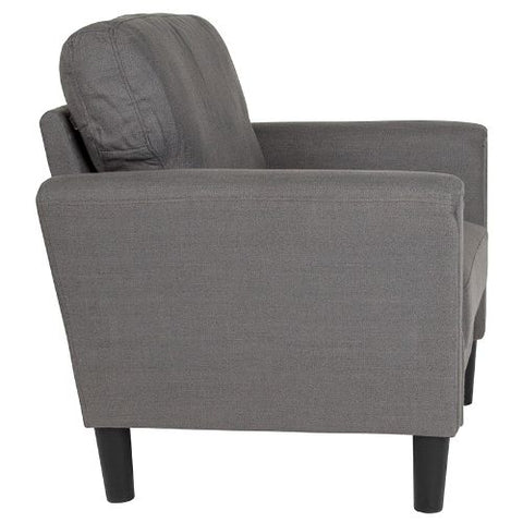 Flash Furniture Bari Upholstered Chair in Dark Gray Fabric SLSF9201DGYFGG ; Image 2 ; UPC 889142500216