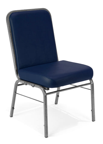 OFM Comfort Class Series Anti-Microbial/Anti-Bacterial Vinyl Stack Chair, Navy ; UPC: 811588012329 ; Image 1