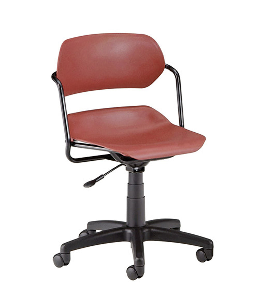OFM Martisa Series Model 200 Swivel Task Chair with Black Frame, Plastic, Mid Back, Wine ; UPC: 845123011966 ; Image 1