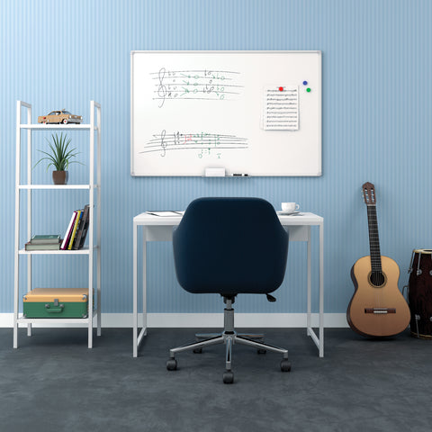 OFM Essentials Collection Magnetic Whiteboard with Aluminum Frame and Tray, 47 x 30 (ESS-8501) ; UPC: 192767001694 ; Image 13
