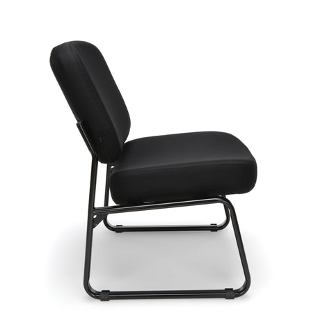 OFM Big and Tall Upholstered Armless Guest/Reception Chair, Black ; UPC: 845123028667 ; Image 4