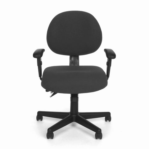 OFM Model 241-AA 24 Hour Ergonomic Upholstered Task Chair with Arms, Charcoal ; UPC: 845123012376 ; Image 2