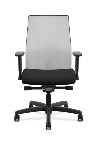 HON Ignition 2.0 Mid-Back Adjustable Lumbar Work Chair - Fog Mesh Computer Chair for Office Desk, Black Fabric (HONI2M2AFLC10TK) ; UPC: 888206730880 ; Image 2