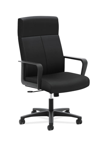 HON Validate High-Back Executive Task Chair, Fixed Arms, in Black  (HVL604) ; UPC: 089191222637 ; Image 1
