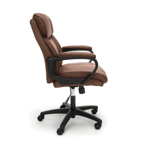 Essentials by OFM ESS-3082 Plush Microfiber Office Chair, Brown ; UPC: 845123095287 ; Image 4