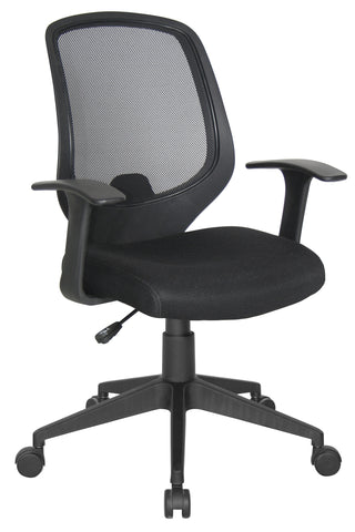 Essentials by OFM E1000 Mesh Swivel Task Chair with Arms, Black ; UPC: 845123025123 ; Image 1