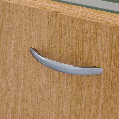 Bush Series A 36W 2 Drawer Lateral File and Hutch, Light Oak SRA073LOSU ; UPC: 042976058739 ; Image 4
