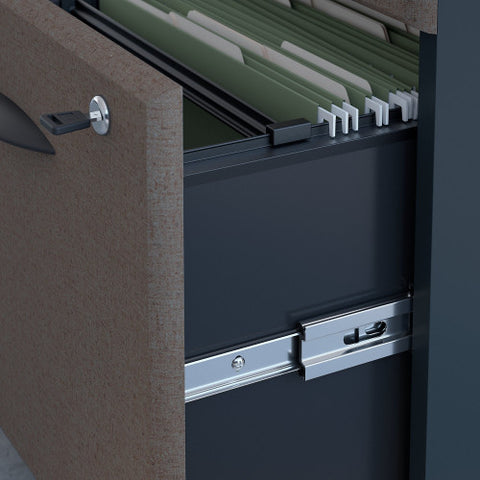 Bush Series A 36W 2 Drawer Lateral File and Hutch, Slate SRA073SLSU ; UPC: 042976058791 ; Image 3