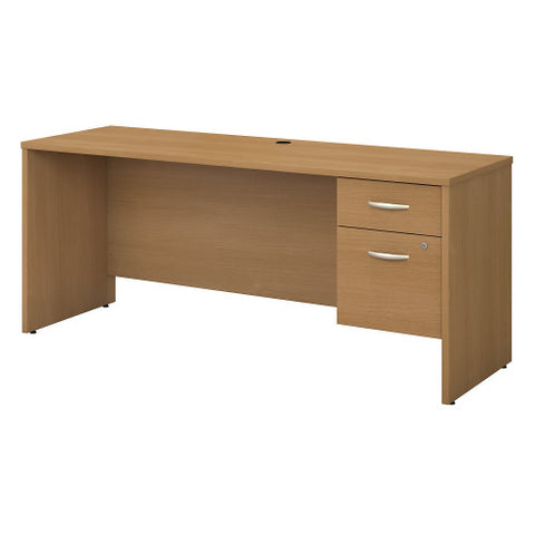 Bush Series C 72W x 24D Credenza Desk Shell with 3/4 Pedestal, Light Oak SRC070LOSU ; UPC: 042976038984 ; Image 1