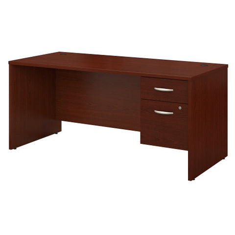 Bush Series C 66W x 30D Desk Shell with 3/4 Pedestal, Mahogany SRC071MASU ; UPC: 042976039158 ; Image 1
