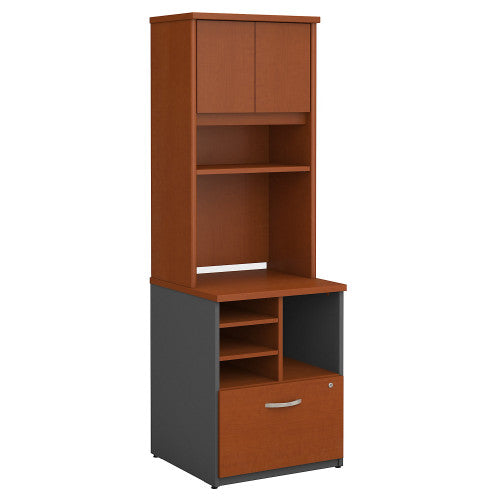 Bush Series C 24W Piler Filer and Hutch, Auburn Maple SRC101AU ; UPC: 042976054069 ; Image 1