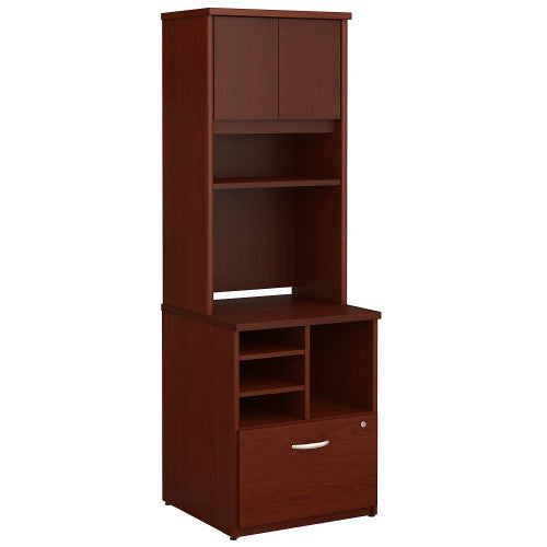 Bush Series C 24W Piler Filer and Hutch, Mahogany SRC101MA ; UPC: 042976054120 ; Image 1