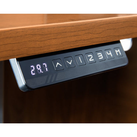Bush Series C 60W Height Adjustable Standing Deskw Credenza, Natural Cherry SRC106NCSU ; UPC: 042976054663 ; Image 3