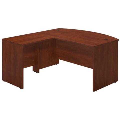Bush Series C Elite 60W x 36D Bowfront Desk Shell with 30W Return, Hansen Cherry SRE003HC ; UPC: 042976016463 ; Image 1