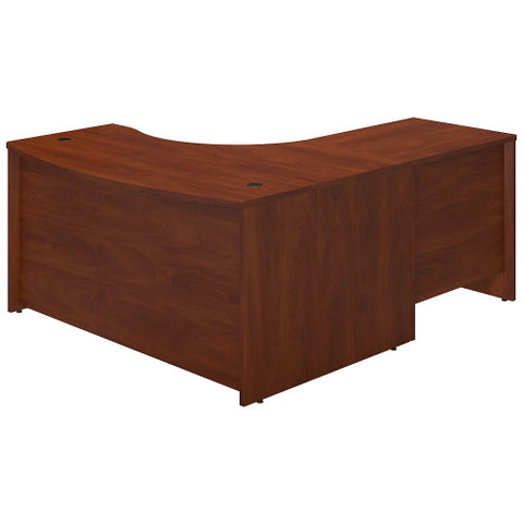 Bush Series C Elite 60W x 43D Left Hand Bowfront Desk Shell with 30W Return, Hansen Cherry SRE005HC ; UPC: 042976016531 ; Image 2