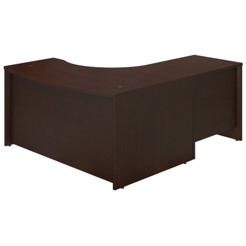Bush Series C Elite 60W x 43D Left Hand Bowfront Desk Shell with 30W Return, Mocha Cherry SRE005MR ; UPC: 042976016494 ; Image 2