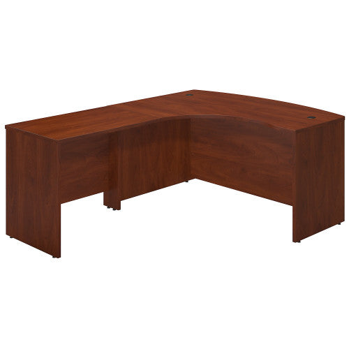 Bush Series C Elite 60W x 43D Left Hand Bowfront Desk Shell with 36W Return, Hansen Cherry SRE010HC ; UPC: 042976016647 ; Image 1