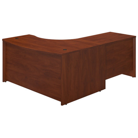 Bush Series C Elite 60W x 43D Left Hand Bowfront Desk Shell with 36W Return, Hansen Cherry SRE010HC ; UPC: 042976016647 ; Image 2