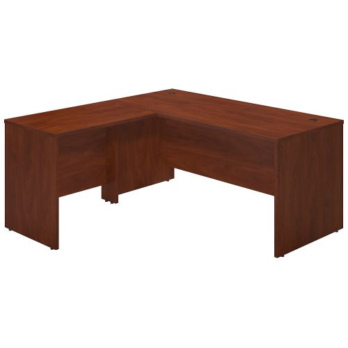 Bush Business Furniture Series C Elite 66W x 30D Desk Shell with 36W Return in Hansen Cherry ; UPC:042976016739 ; Image 1