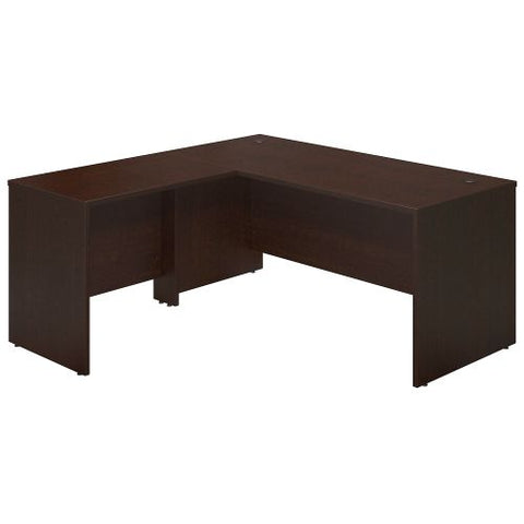 Bush Business Furniture Series C Elite 66W x 30D Desk Shell with 36W Return in Mocha Cherry ; UPC:042976016722 ; Image 1