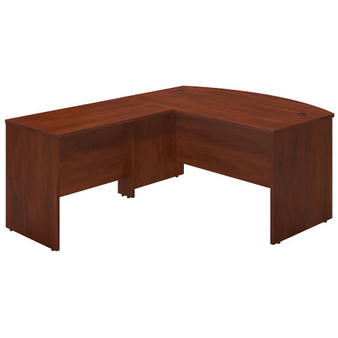 Bush Series C Elite 60W x 36D Bowfront Desk Shell with 42W Return, Hansen Cherry SRE015HC ; UPC: 042976016807 ; Image 1