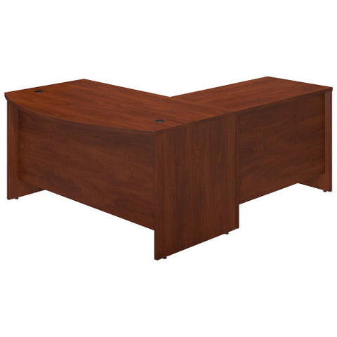 Bush Series C Elite 60W x 36D Bowfront Desk Shell with 42W Return, Hansen Cherry SRE015HC ; UPC: 042976016807 ; Image 2