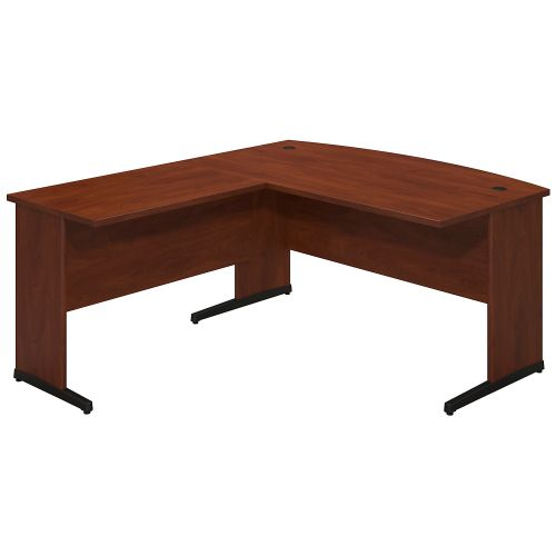 Bush Business Furniture Series C Elite 60W x 30D C Leg Bow Front Desk Shell with 36W Return in Hansen Cherry ; UPC:042976020811 ; Image 1