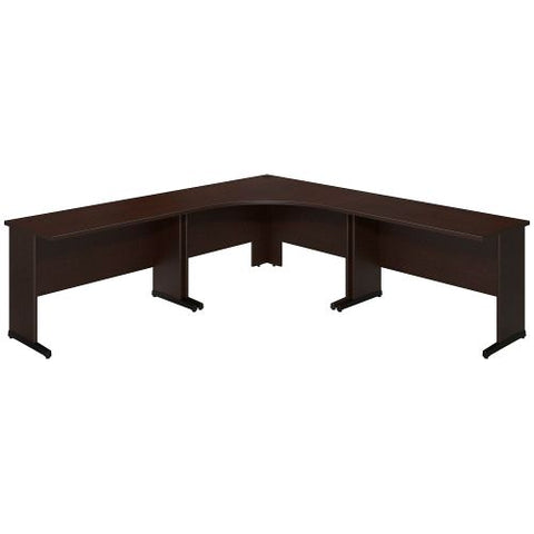 Bush Business Furniture Series C Elite 48W x 48D C Leg Corner Desk with (2) 48W x 24D Desks in Mocha Cherry ; UPC:042976021245 ; Image 1