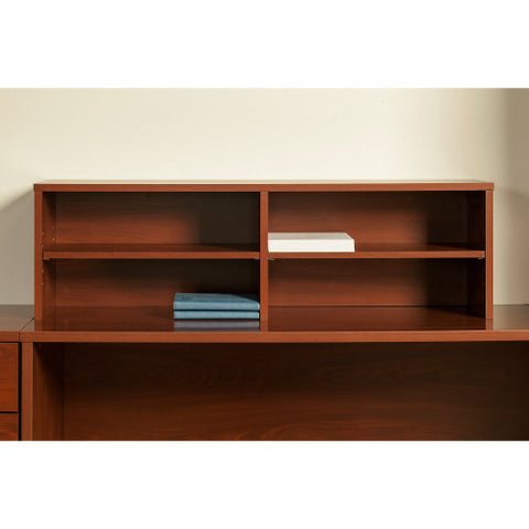 Bush Series C Elite 60W x 30D U Station with Standing Height Desk Shell, Hansen Cherry SRE107HC ; UPC: 042976026134 ; Image 3