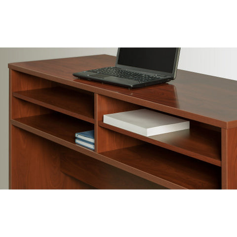 Bush Series C Elite 60W x 30D U Station with Standing Height Desk Shell, Hansen Cherry SRE107HC ; UPC: 042976026134 ; Image 4