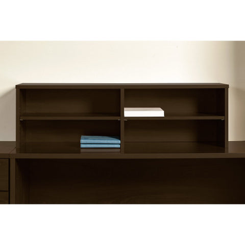 Bush Series C Elite 72W x 30D U Station with Standing Height Desk Shell, Mocha Cherry SRE117MR ; UPC: 042976026356 ; Image 3