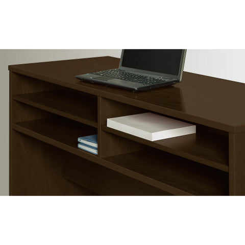 Bush Series C Elite 72W x 30D U Station with Standing Height Desk Shell, Mocha Cherry SRE117MR ; UPC: 042976026356 ; Image 4