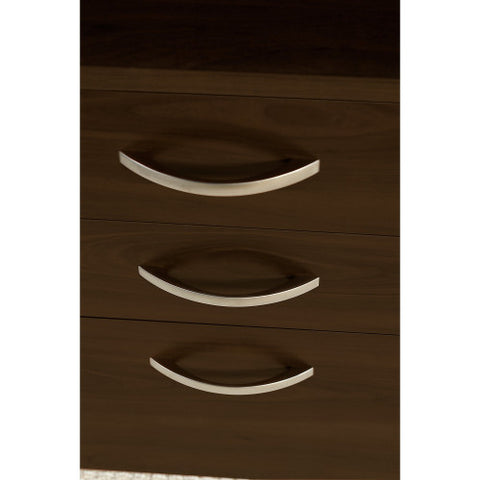 Bush Series C Elite 60W x 36D Bow Front U Station with 3 Drawer Pedestal, Mocha Cherry SRE134MRSU ; UPC: 042976027209 ; Image 4