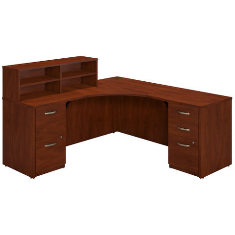 Bush Series C Elite 42W x 42D Corner Desk with Returns and Storage, Hansen Cherry SRE139HCSU ; UPC: 042976027285 ; Image 1