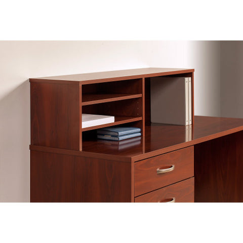 Bush Series C Elite 42W x 42D Corner Desk with Returns and Storage, Hansen Cherry SRE139HCSU ; UPC: 042976027285 ; Image 4