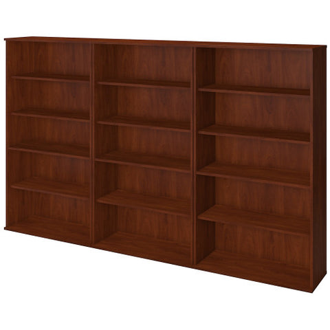 Bush Series C Elite 66H Bookcase Storage Wall, Hansen Cherry SRE149HC ; UPC: 042976085629 ; Image 1