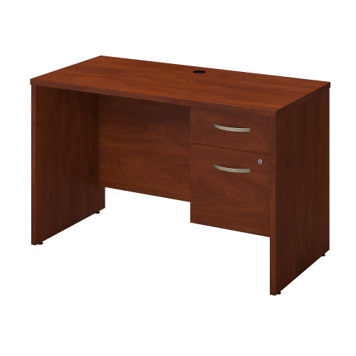 Bush Series C Elite 48W x 24D Desk Shell with 3/4 Pedestal, Hansen Cherry SRE175HCSU ; UPC: 042976087180 ; Image 1
