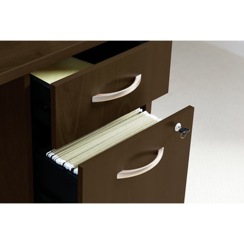 Bush Series C Elite 66W x 30D C-Leg Desk with 3/4 Pedestal, Mocha Cherry SRE197MRSU ; UPC: 042976088231 ; Image 3