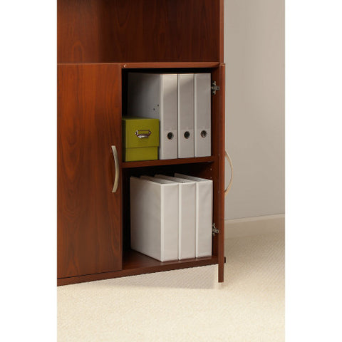 Bush Series C Elite 36W 5 Shelf Bookcase with Doors, Hansen Cherry SRE221HC ; UPC: 042976089177 ; Image 3