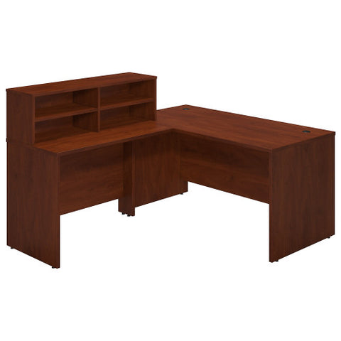 Bush Series C Elite 60W x 30D Reception L Desk, Hansen Cherry SRE231HC ; UPC: 042976089597 ; Image 1