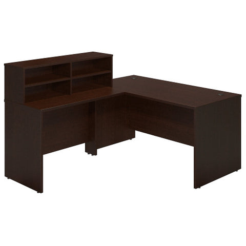 Bush Series C Elite 60W x 30D Reception L Desk, Mocha Cherry SRE231MR ; UPC: 042976089610 ; Image 1
