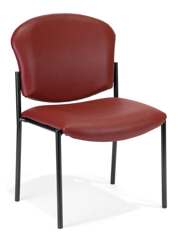 OFM 408-VAM-603 Armless Stack Vinyl Chair, Wine ; UPC: 811588013197 ; Image 1